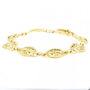 Bracelet maillie filigrane en or jaune