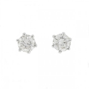 Puces d'oreilles diamants 0,76 carat en or blanc