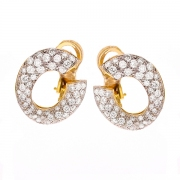 Boucles d'oreilles diamants 1.60 carat 2 ors