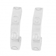 Cartier - Boucles d'oreilles Love en or blanc - Occasion