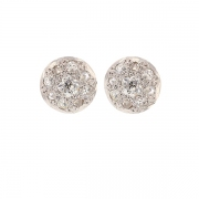 Boucles d'oreilles diamants 0.30 carat en or blanc