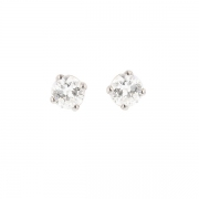 Puces d'oreilles diamants 0.40 carat en or blanc