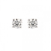 Puces d'oreilles diamants 0.81 carat en or blanc