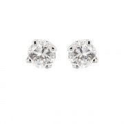 Puces d'oreilles diamants 1.47 carat en or blanc