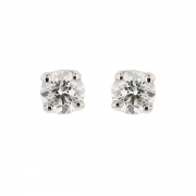 Puces d'oreilles diamants 1.31 carat en or blanc