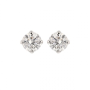 Puces d'oreilles diamants 1.01 carat en or blanc