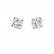 Puces d'oreilles diamants 1.02 carat en or blanc