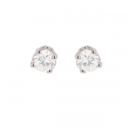 Puces d'oreilles diamants 0.60 carat en or blanc