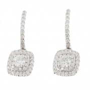 Boucles d'oreilles diamants 0,66 carat en or blanc