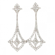 Boucles d'oreilles diamants 1,46 carat en or blanc