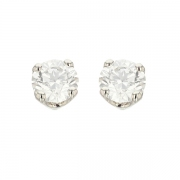 Puces d'oreilles diamants 1.11 carat en or blanc