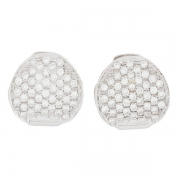 Boucles d'oreilles diamants 1 carat en or blanc