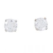 Boucles d'oreilles puces diamants 0,86 carat en or blanc - Occasion