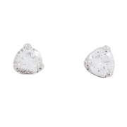 Boucles d'oreilles puces diamants 0,37 carat en or blanc - Occasion