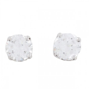 Boucles d'oreilles puces diamants 1,66 carat en or blanc - Occasion