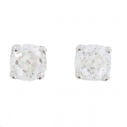 Boucles d'oreilles puces diamants 1,64 carat en or blanc - Occasion