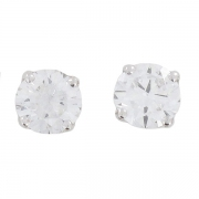 Boucles d'oreilles puces diamants 1,96 carat en or blanc - Occasion