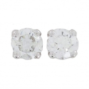 Boucles d'oreilles puces diamants 0,70 carat en or blanc
