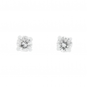 Boucles d'oreilles puces diamants 0,22 carat en or blanc