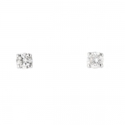 Puces d'oreilles diamants 0,40 carat en or blanc