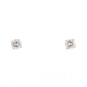 Puces d'oreilles diamants 0,34 carat en or blanc