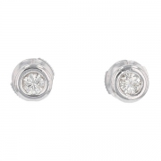 Boucles d'oreilles diamants 0,50 carat en or blanc
