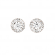 Boucles d'oreilles diamants 1,24 carat en or blanc
