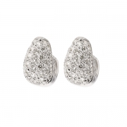 Boucles d'oreilles pavages diamants 0.68 carat en or blanc