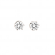 Puces d'oreilles diamants 1.10 carat en or blanc
