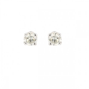 Puces d'oreilles diamants 0.34 carat en or blanc