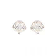 Puces d'oreilles diamants 2 carats en or blanc