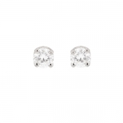 Puces d'oreilles diamants 0.50 carat en or blanc