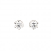 Puces d'oreilles diamants 0.76 carat en or blanc