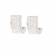 Boucles d'oreilles pavages diamants 0.80 carat en or blanc
