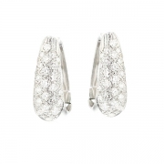 Boucles d'oreilles pavages diamants 0.90 carat en or blanc