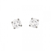 Puces d'oreilles diamants 0.49 carat en or blanc
