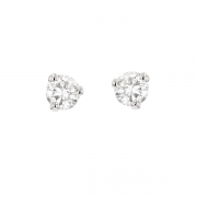 Puces d'oreilles diamants 0.43 carat en or blanc