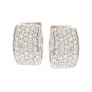 Boucles d'oreilles diamants 1.68 carat en or blanc