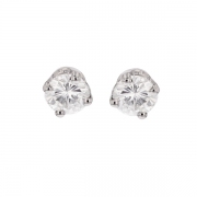 Puces d'oreilles diamants 0.66 carat en or blanc