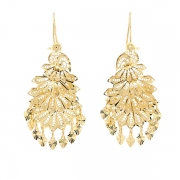 Boucles d'oreilles filigranes en or jaune