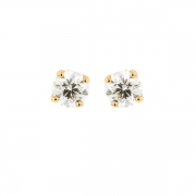 Puces d'oreilles diamants 0.85 carat en or jaune