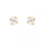 Puces d'oreilles diamants 0.48 carat en or jaune