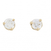 Boucles d'oreilles puces diamants 0,34 carat en or jaune - Occasion