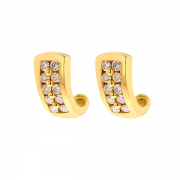 Boucles d'oreilles diamants 0.40 carat en or jaune