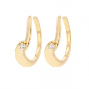 Boucles d'oreilles diamants 0.20 carat en or jaune