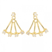 Boucles d'oreilles diamants 0.30 carat en or jaune