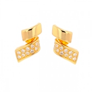 Boucles d'oreilles diamants 0.45 carat en or jaune
