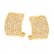 Boucles d'oreilles diamants 2.7 carats en or jaune