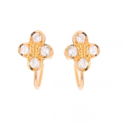 Boucles d'oreilles diamants 0.64 carat en or jaune