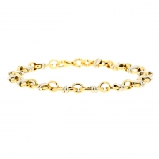 Bracelet maille contemporaine en or bicolore 12.05grs
